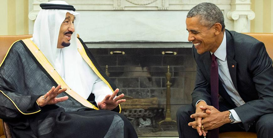صدر اوباما کی سعودی شاہ سلمان سے ملاقات