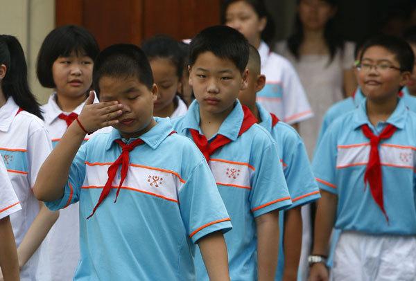 چین کے بچے ہوم ورک سے بے حال