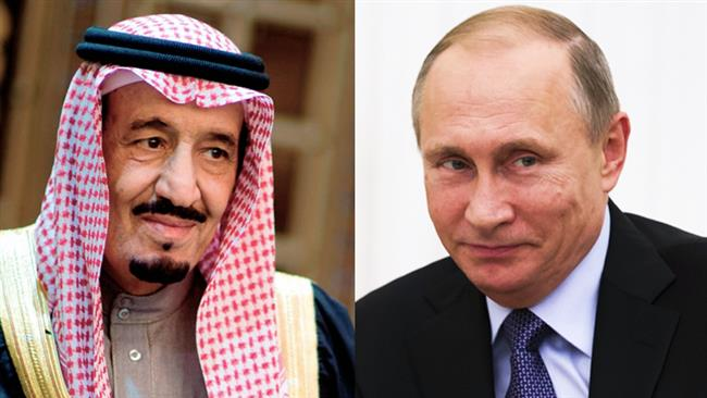 شامی بحران حل کرنے کے لئے روسی صدر اور سعودی فرمانروا میں رابطہ
