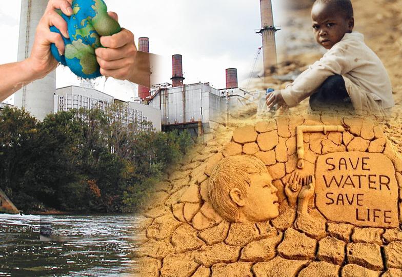 صنعتی آلودگی ،گرمی میں شدت پانی کے عالمی ذخائر خاتمے کی جانب گامزن