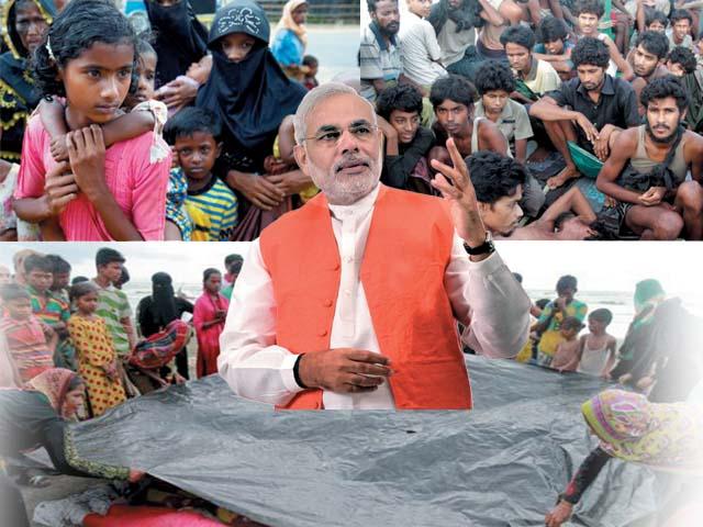 نریندر مودی روہنگیا مسلمانوں کے توسط سے 'ہندو کارڈ کھیل رہے ہیں؟