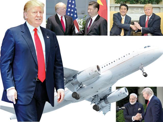امریکی صدر کا ایشیائی ممالک کاپہلا دورہ