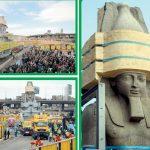 رمسیس الثانی کا 3200 سال قدیم مجسمہ نئے عجائب گھر منتقل