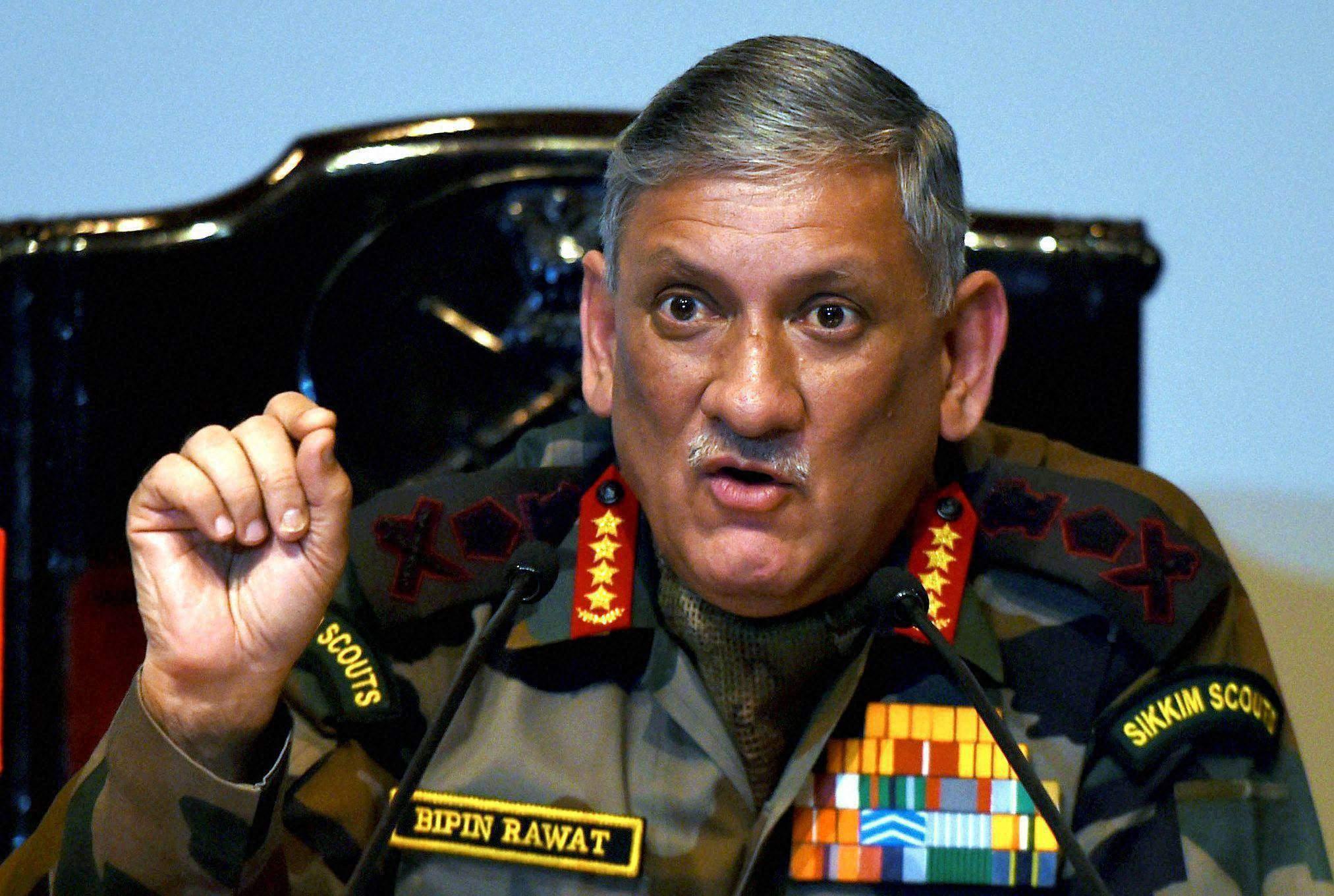 بھارتی فوج کا تنظیمی ڈھانچہ پرانا ہے ، تبدیلی کی ضرورت ہے، جنرل راوت کا اعتراف