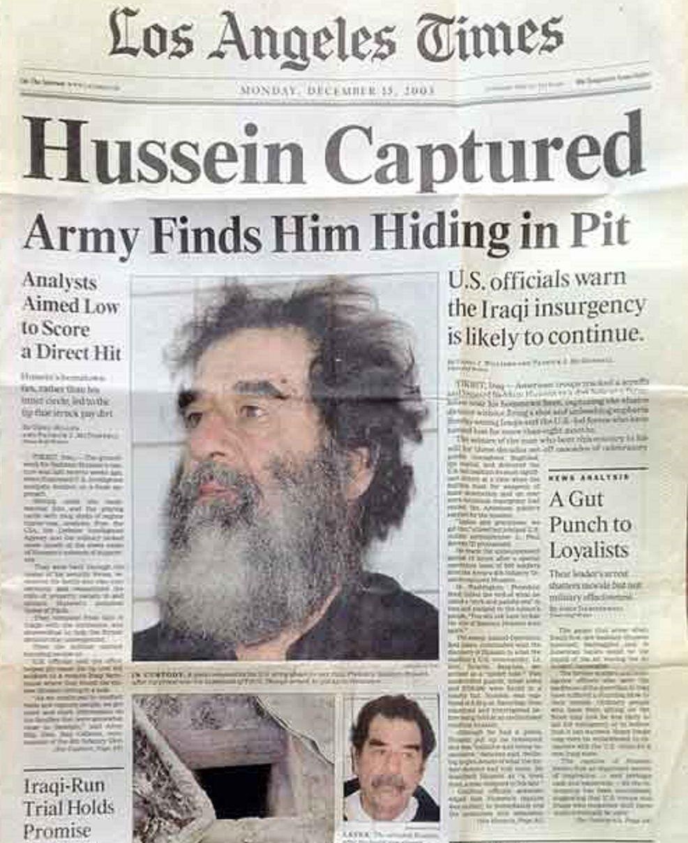 صدام حسین کو امریکی فوجیوں نے کیسے گرفتار کیا تھا؟نئی تفصیلات منظرعام پر آگئی!