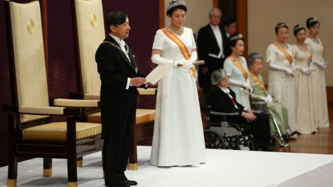 جاپان میں نئے بادشاہ کی تقریب تاج پوشی