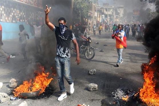 ہیٹی ، صدر کے استعفے کیلئے ہزاروں افراد سڑکوں پر نکل آئے