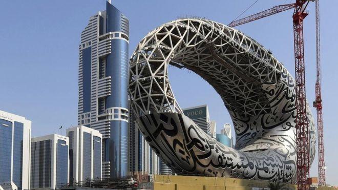 دبئی میں دنیا کا انوکھا میوزیم آف دی فیوچر افتتاح کے لیے تیار