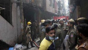 نئی دہلی میں فیکٹری میں آتشزدگی سے 43 افراد ہلاک