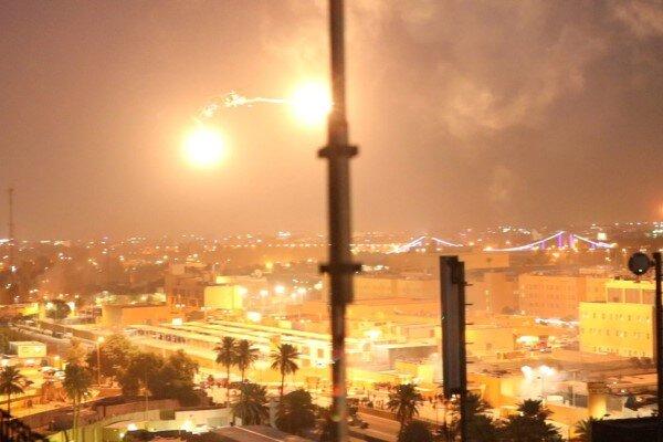 عراق ،بغداد میں امریکی سفارتخانے پر راکٹوں سے حملہ