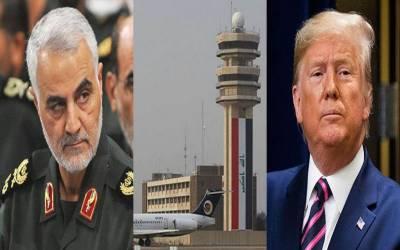 ٹرمپ کا حکم بغدادائیرپورٹ پرحملہ،ایرانی جنرل قاسم سلیمانی ہلاک