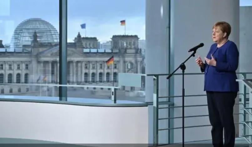 جرمن چانسلر کا کورونا کی روک تھام کے لیے یورپی سربراہ کانفرنس بلانے کا اعلان