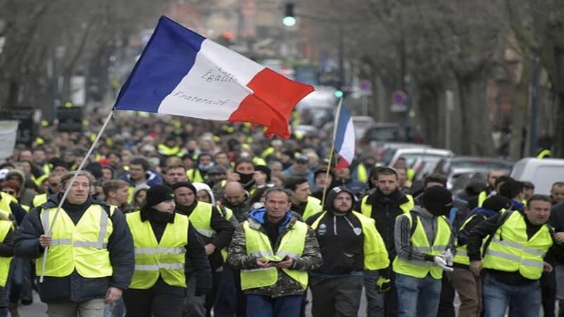 فرانس، کورونا کا خوف بھی پیلی جیکٹ مظاہرین کو نہ روک سکا،احتجاجی مظاہرے