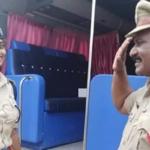 ڈیوٹی پر مامور پولیس اہلکار کا افسر بیٹی کو سیلوٹ،تصویر سوشل میڈیا پر وائرل