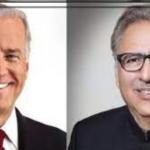 امریکی صدرجوبائیڈن کی یومِ پاکستان پر صدرمملکت عارف علوی کو مبارکباد