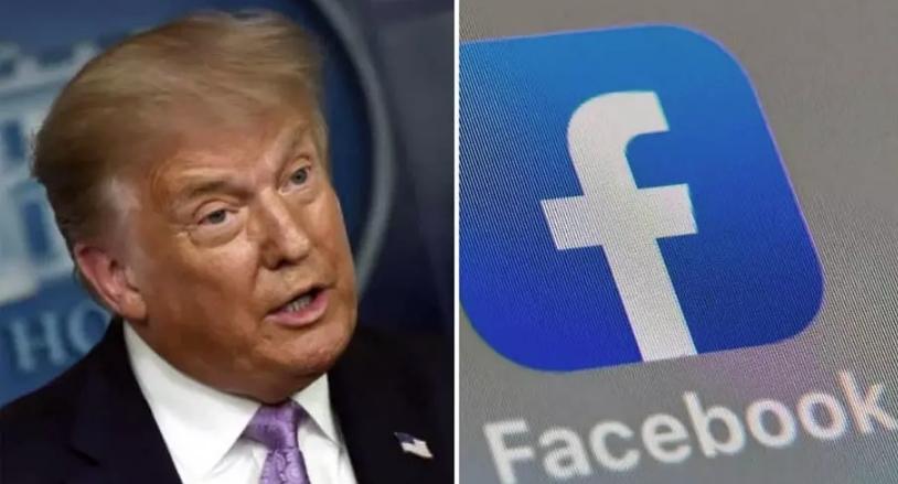 فیس بک نے ٹرمپ کے انٹرویو کی ویڈیو ہٹادی