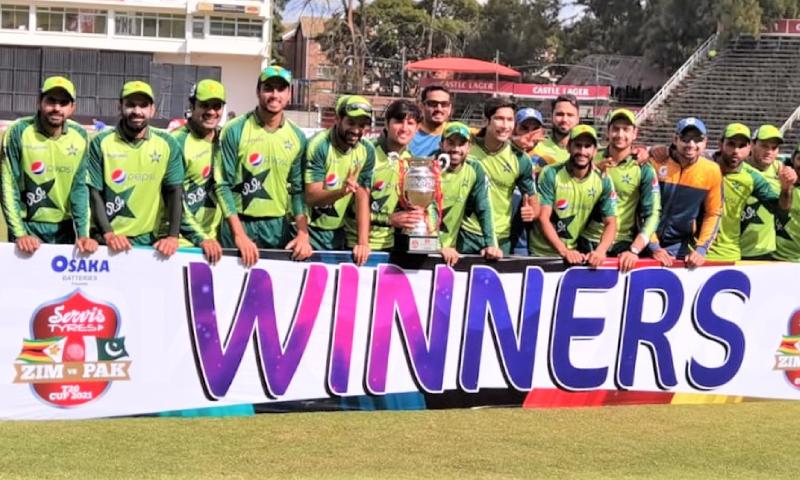 پاکستان نے زمبابوے کو تیسرے ٹی ٹوئنٹی میں شکست دے کر سیریز جیت لی
