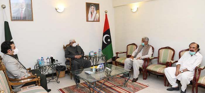 آصف زرداری اور بلاول بھٹو سے جنرل (ر)عبدالقادر بلوچ کی ملاقات