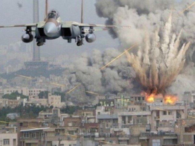 امریکی جنگی طیاروں کے طالبان کے ٹھکانوں پر فضائی حملے