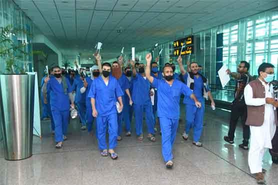 سعودی عرب میں قید 63پاکستانی رہائی کے بعد وطن پہنچ گئے