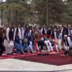 افغان صدارتی محل میں نماز عید کے دوران راکٹ حملے کی ویڈیو وائرل