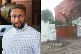 شدت پسند ہندؤں کا نامور مسلم رہنما اسدالدین اویسی کے گھر پر حملہ