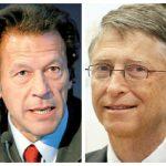 وزیراعظم عمران خان سے بل گیٹس کا ٹیلیفونک رابطہ